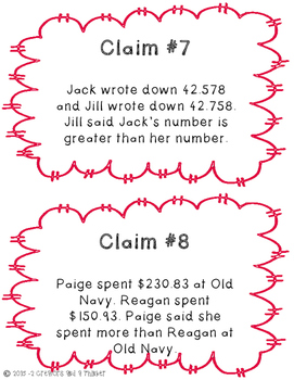 Stake Your Claim- Comparing Decimals TEKS 5.2B