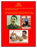 Stalin: Evaluation of the Five Year Plan's and Collectivization