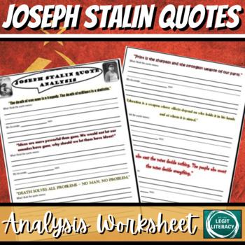 Stalin Quote Analysis