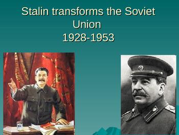 Stalin Transforms the Soviet Union