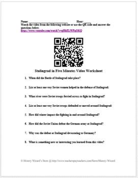 Stalingrad in Five Minutes Video Worksheet