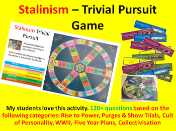 Stalinism – Trivial Pursuit Revision Activity (120+ questions)