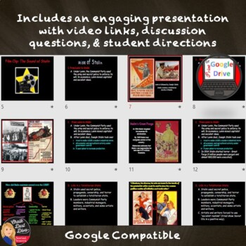 Stalin's Rise to Power Lecture, Graphic Organizer & Sensory Figure