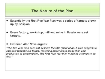 Stalin's Russia The First Five Year Plan