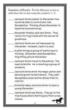 Stallion by Starlight : Magic Tree House #49 Novel Study / Comprehension