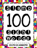 Stamp 100 Kindergarten Sight Words