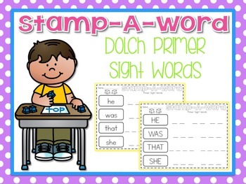 Stamp-A-Word {Primer Dolch Words}