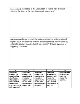 Stamp Act Congress Declaration of Rights  Primary Document Interpretation