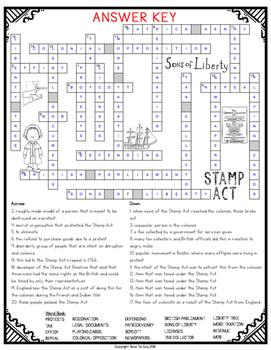 Stamp Act Crossword