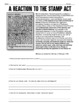 Stamp Act Introduction: A fun, authentic way for students