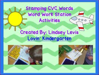 Stamp CVC Words ~ Word Work Station Activities