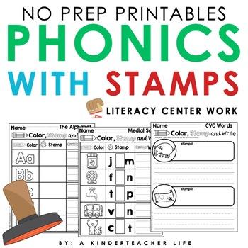 Stamp Center Literacy Center Worksheet Activities
