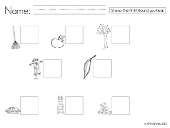 Stamp & Say It Sounds {Fall Theme, Initial Sounds, CVCs, Sight Words}