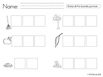 Stamp & Say It Sounds {Fall Theme, Initial Sounds, CVCs, S