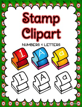 Stamp Clipart Letters And Numbers By Teacher Laura Tpt