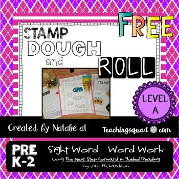 Stamp, Dough & Roll Sight Word - Word Work