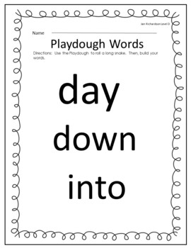 Stamp, Dough & Roll Sight Word - Word Work Level D