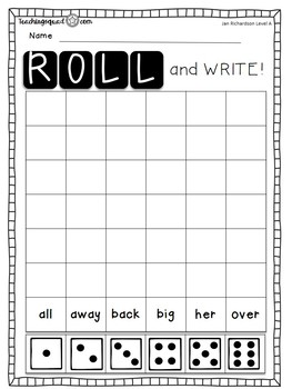 Stamp, Dough & Roll Sight Word - Word Work Level E