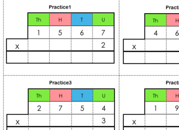 Stamp Game / Small Bead Frame Practice Cards (Multiplication Static)