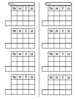 Stamp Game Worksheet : Addition, Subtraction, Multiplication, Division