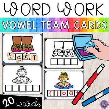 Word Work Cards   Vowel Teams