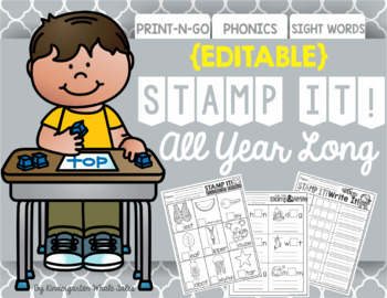 Stamp It!  All Year Long {EDITABLE Files Included}