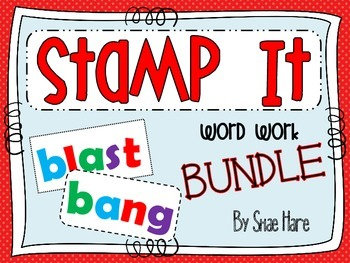 {Stamp It BUNDLE} {Stamp It} Word Work [Reading] Station Center Printable
