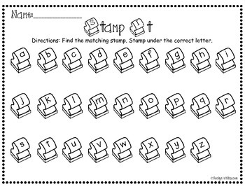 Stamp It- Letters