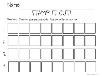 Stamp It Out!  {FREEBIE}