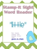 "Stamp-It Sight Word Reader ""little"""