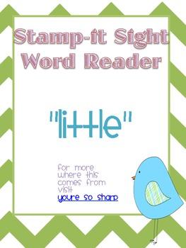 "Stamp-It Sight Word Reader ""little"""