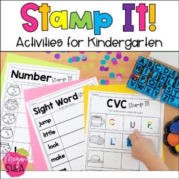 Stamp It! Stamping Activities for Kindergarten