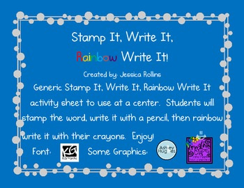 Stamp It, Write It, Rainbow Write It