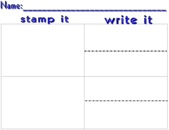 Stamp It - Write it - Draw it Worksheet