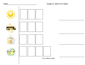 """Stamp It/Write-It Short Vowels"