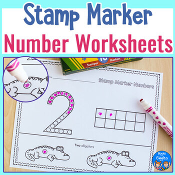 Stamp Marker Ten Frame and Number Recognition Worksheets