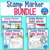 Stamp Marker Worksheets BUNDLE
