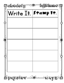 Stamp Out Your Spelling Words, Rainbow Write, Spelling Spots,  ABC Order