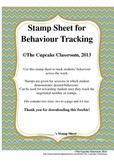 Stamp Sheet for Behaviour Tracking FREEBIE