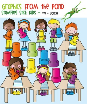 Stamp Stick Kids - Clipart for Teaching Resources