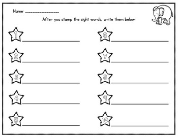 Stamp That Dough! An Editable Sight Word Center for the Whole Year
