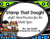 Stamp That Dough! An Editable Sight Word Center for the Wh