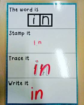 Stamp, Trace and Write Sight Words
