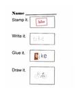 Stamp Write Glue Draw