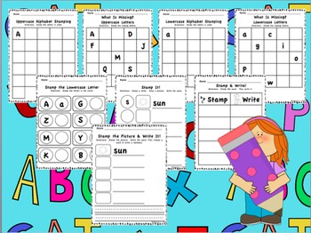Stamp & Write Word Work Literacy Center Activities for K-1