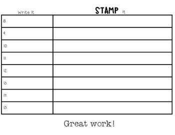 Stamp Your Spelling Words
