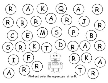"ABC Letter Stamping ""Daub"" a Letter {A-Z Uppercase Letters}"