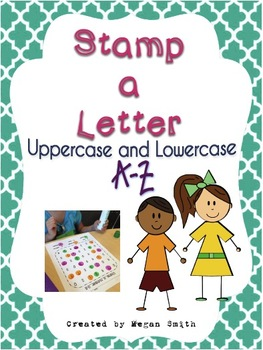 Stamp a Letter Uppercase and Lowercase A-Z