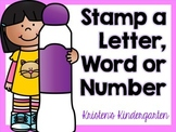 Stamp a Letter, Word or Number