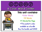 Stamp-a-Sight Word Center - Color Words